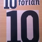 FORLAN 10 URUGUAY HOME WC 2010 NAME NUMBER SET NAMESET KIT PRINT NUMBERING