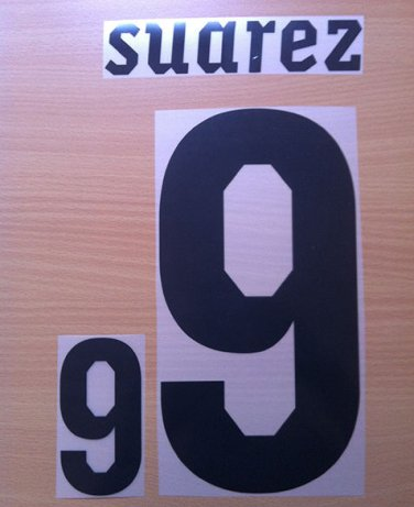 SUAREZ 9 URUGUAY HOME WC 2010 NAME NUMBER SET NAMESET KIT PRINT NUMBERING