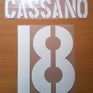 CASSANO 18 AS ROMA HOME 2003 2004 NAME NUMBER SET NAMESET KIT PRINT NUMBERING