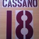 CASSANO 18 AS ROMA AWAY 2003 2004 NAME NUMBER SET NAMESET KIT PRINT NUMBERING