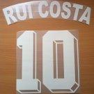 RUI COSTA 10 FIORENTINA HOME 1998 1999 NAME NUMBER SET NAMESET KIT PRINT