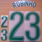 ROBINHO 23 BRAZIL HOME WORLD CUP GERMANY 2006 NAME NUMBER SET NAMESET KIT PRINT