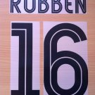 ROBBEN 16 CHELSEA AWAY UCL 2004 2006 NAME NUMBER SET NAMESET KIT PRINT