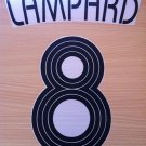 LAMPARD 8 CHELSEA AWAY THIRD UCL 2006 2008 NAME NUMBER SET NAMESET KIT PRINT