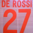 DE ROSSI 27 AS ROMA THIRD 2002 2003 NAME NUMBER SET NAMESET KIT PRINT NUMBERING