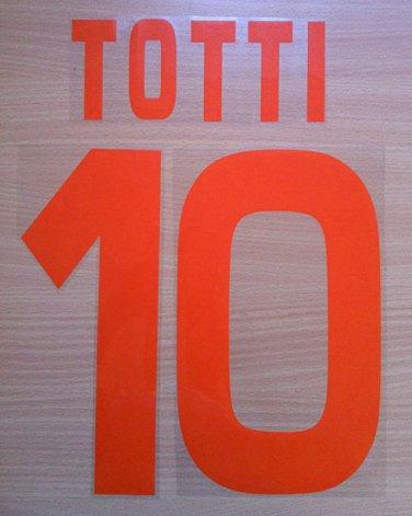 TOTTI 10 AS ROMA THIRD 2008 2009 NAME NUMBER SET NAMESET KIT PRINT NUMBERING