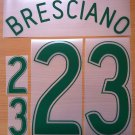 BRESCIANO 23 AUSTRALIA 2006 2008 NAME NUMBER SET NAMESET KIT PRINT NUMBERING