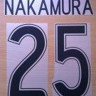 NAKAMURA 25 CELTIC HOME UCL 2006 2008 NAME NUMBER SET NAMESET KIT PRINT