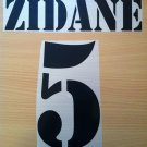 ZIDANE 5 REAL MADRID HOME 2001 2002 NAME NUMBER SET NAMESET KIT PRINT