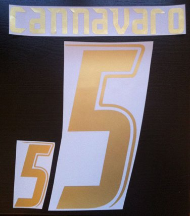 CANNAVARO 5 ITALY HOME WORLD CUP 2006 NAME NUMBER SET NAMESET KIT PRINT