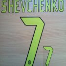 ANDRIY SHEVCHENKO 7 MILAN 2004 2007 THIRD UCL NAME NUMBER SET NAMESET KIT PRINT