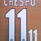 HERNAN CRESPO 11 MILAN 2004 2005 NAME NUMBER SET NAMESET KIT PRINT NUMBERING