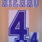 HIERRO 4 REAL MADRID HOME 1992 1996 NAME NUMBER SET NAMESET KIT PRINT RETRO