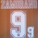 ZAMORANO 9 REAL MADRID AWAY 1992 1996 NAME NUMBER SET NAMESET KIT PRINT RETRO