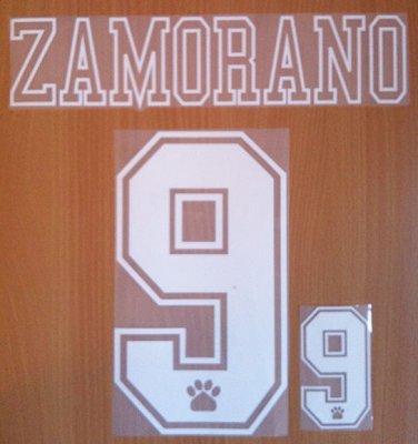 ZAMORANO 9 REAL MADRID AWAY 1992 1996 NAME NUMBER SET NAMESET KIT PRINT RETRO