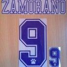 ZAMORANO 9 REAL MADRID HOME 1992 1996 NAME NUMBER SET NAMESET KIT PRINT RETRO