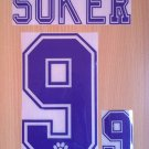 DAVOR SUKER 9 REAL MADRID HOME 1996 1998 NAME NUMBER SET NAMESET KIT PRINT RETRO