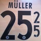 MULLER 25 BAYERN MUNICH AWAY 2013 2014 NAME NUMBER SET NAMESET KIT PRINT FLOCK