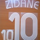 ZIDANE 10 FRANCE HOME WORLD CUP 2006 NAME NUMBER SET NAMESET KIT PRINT