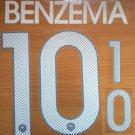BENZEMA 10 FRANCE HOME 2014 2015 NAME NUMBER SET NAMESET KIT PRINT FOOTBALL