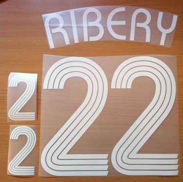 RIBERY 22 FRANCE HOME WORLD CUP 2006 NAME NUMBER SET NAMESET KIT PRINT