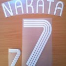 NAKATA 7 JAPAN HOME WORLD CUP 2006 NAME NUMBER SET NAMESET KIT PRINT NUMBERING