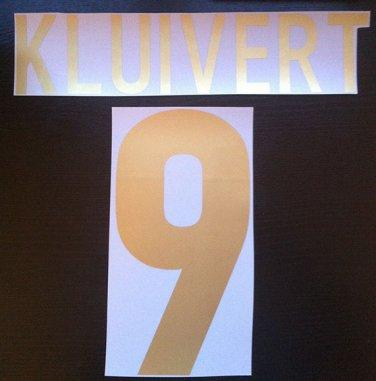 KLUIVERT 9 BARCELONA HOME CENTENARY 1999 2000 NAME NUMBER SET NAMESET KIT PRINT