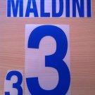 MALDINI 3 ITALY AWAY WORLD CUP 2002 NAME NUMBER SET NAMESET KIT PRINT NUMBERING