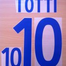 TOTTI 10 ITALY AWAY WORLD CUP 2002 NAME NUMBER SET NAMESET KIT PRINT NUMBERING