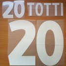 TOTTI 20 ITALY HOME EURO 2000 NAME NUMBER SET NAMESET KIT PRINT NUMBERING