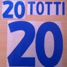 TOTTI 20 ITALY AWAY EURO 2000 NAME NUMBER SET NAMESET KIT PRINT NUMBERING