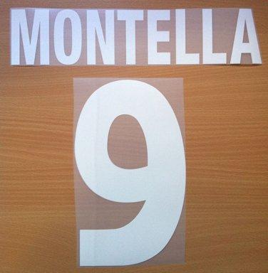 MONTELLA 9 AS ROMA HOME 2000 2002 NAME NUMBER SET NAMESET KIT PRINT NUMBERING