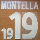 MONTELLA 19 ITALY HOME EURO 2000 NAME NUMBER SET NAMESET KIT PRINT NUMBERING