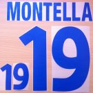 MONTELLA 19 ITALY AWAY EURO 2000 NAME NUMBER SET NAMESET KIT PRINT NUMBERING