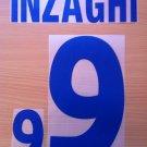 INZAGHI 9 ITALY AWAY EURO 2000 NAME NUMBER SET NAMESET KIT PRINT NUMBERING
