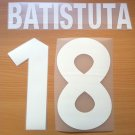 BATISTUTA 18 AS ROMA HOME 2000 2002 NAME NUMBER SET NAMESET KIT PRINT NUMBERING
