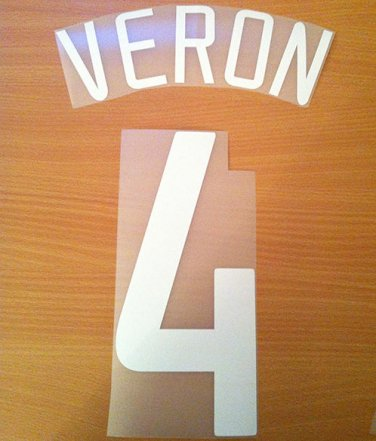 VERON 4 MANCHESTER UNITED HOME UCL 2002 2004 NAME NUMBER SET NAMESET KIT PRINT