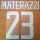MATERAZZI 23 INTERNAZIONALE HOME 2002 2004 NAME NUMBER SET NAMESET KIT PRINT