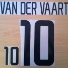 VAN DER VAART 10 NETHERLANDS HOME 2002 2004 NAME NUMBER SET NAMESET KIT PRINT