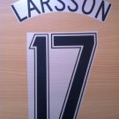 LARSSON 17 CELTIC HOME UCL 2006 2007 NAME NUMBER SET NAMESET KIT PRINT NUMBERING