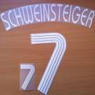 SCHWEINSTEIGER 7 AWAY GERMANY WORLD CUP 2006 NAME NUMBER SET NAMESET KIT PRINT