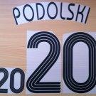 PODOLSKI 20 HOME GERMANY WORLD CUP 2006 NAME NUMBER SET NAMESET KIT PRINT
