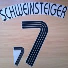 SCHWEINSTEIGER 7 HOME GERMANY WORLD CUP 2006 NAME NUMBER SET NAMESET KIT PRINT
