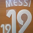 LIONEL MESSI 19 ARGENTINA AWAY WORLD CUP 2006 NAME NUMBER SET NAMESET KIT PRINT