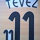 CARLOS TEVEZ 11 ARGENTINA HOME WORLD CUP 2006 NAME NUMBER SET NAMESET KIT PRINT