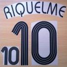 RIQUELME 10 ARGENTINA HOME WORLD CUP 2006 NAME NUMBER SET NAMESET KIT PRINT