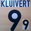 KLUIVERT 9 NETHERLANDS HOME EURO 2000 NAME NUMBER SET NAMESET KIT PRINT HOLLAND