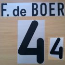 FRANK DE BOER 4 NETHERLANDS HOME EURO 2000 NAME NUMBER SET NAMESET KIT PRINT