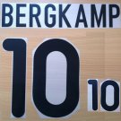 BERGKAMP 10 NETHERLANDS HOME EURO 2000 NAME NUMBER SET NAMESET KIT PRINT HOLLAND