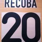 RECOBA 20 INTER AWAY 2000 2001 NAME NUMBER SET NAMESET KIT PRINT NUMBERING